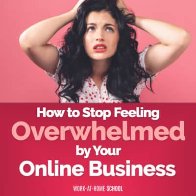 Stressed out by your online business? Sagan Morrow's tips will help you stop feeling overwhelmed!
