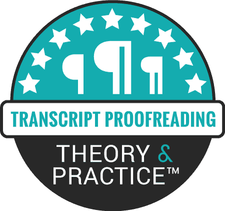 Proofread Anywhere Transcript Proofreading: Theory and Practice