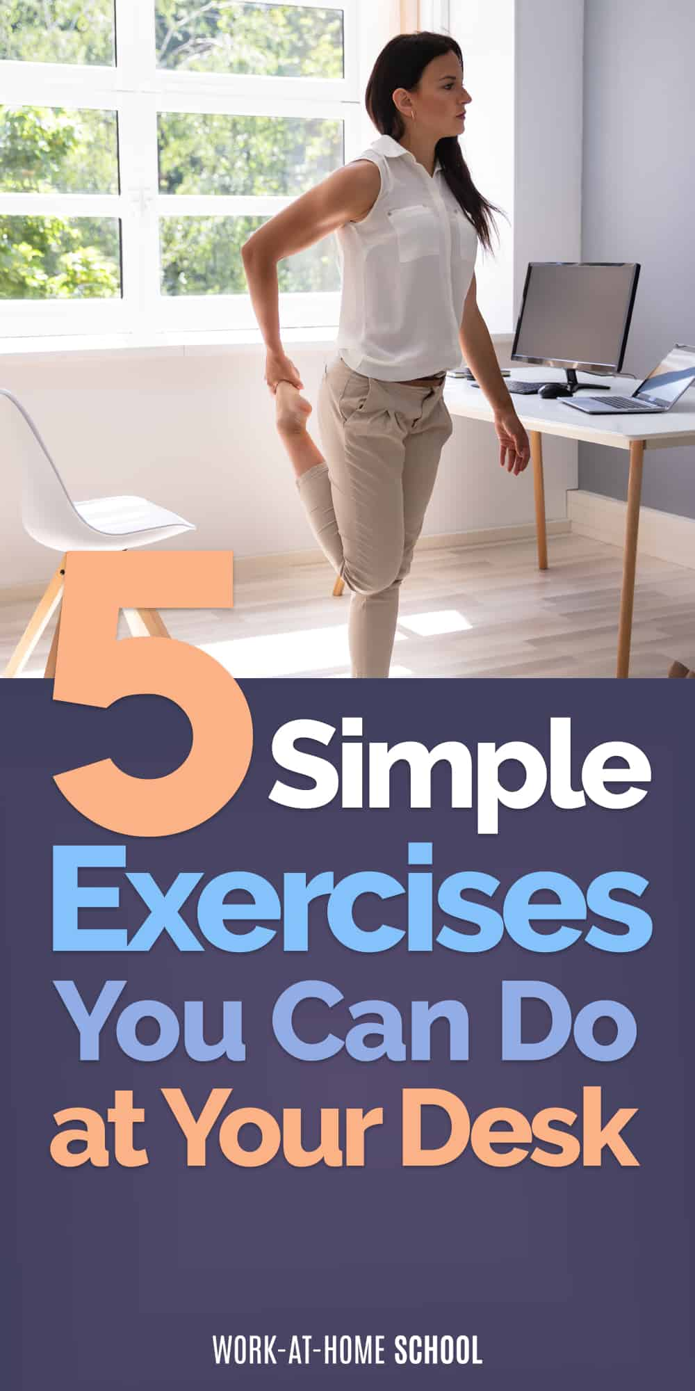 You don't need to spend hours in the gym! Try these 5 simple desk exercises to help you stay fit.