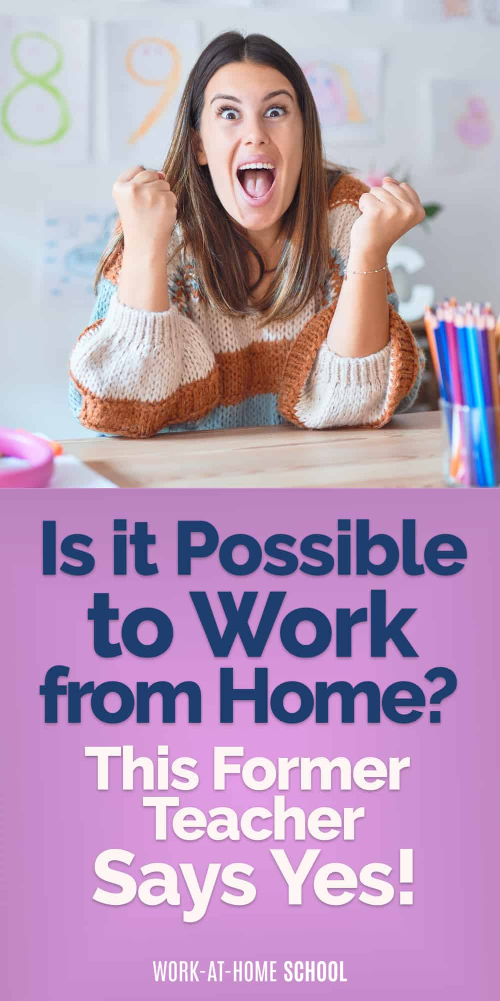 """If you're thinking, """"Can I work from home?"""" The answer is yes!! Here's how."""