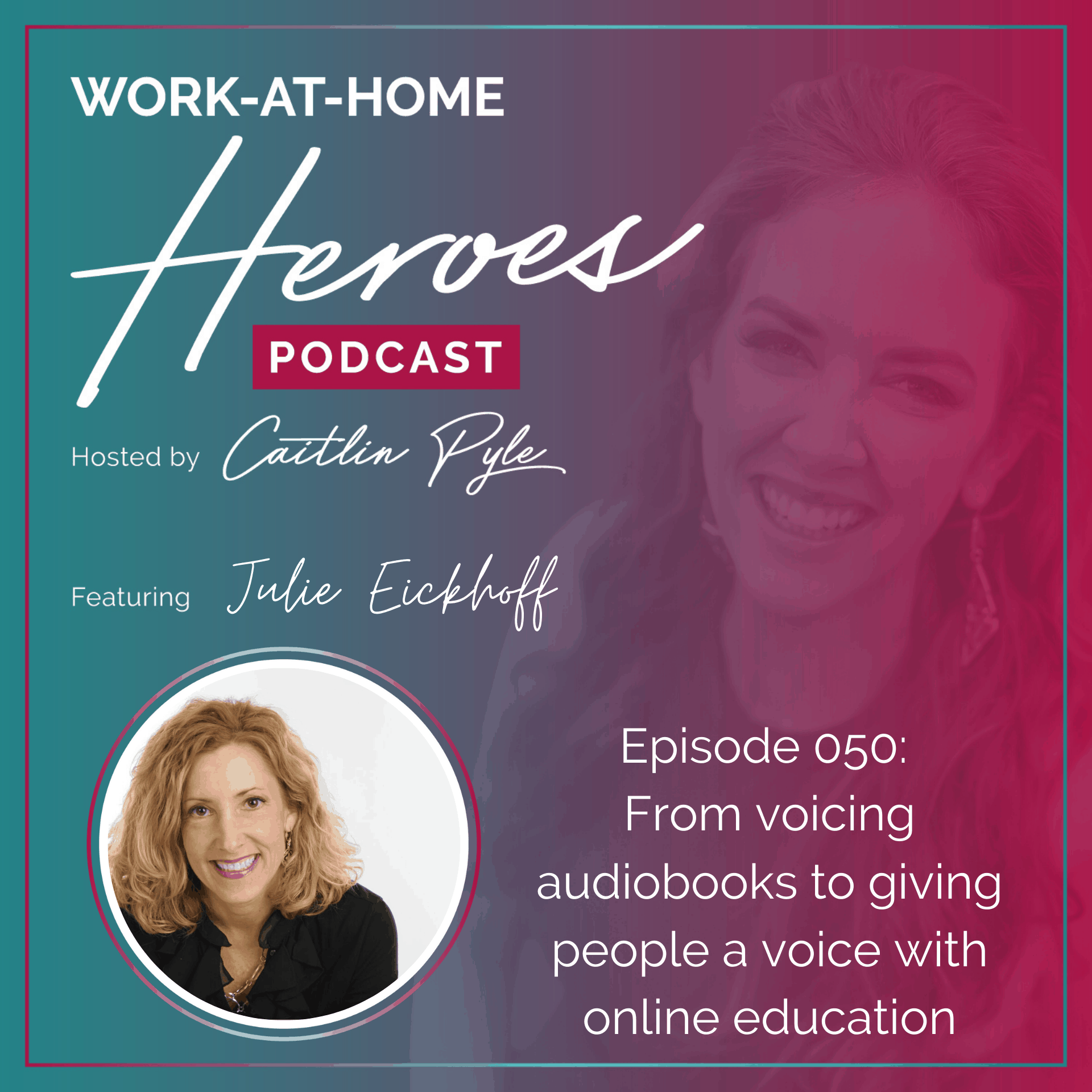 Julie Eickhoff voicing audiobooks to giving people a voice with online education