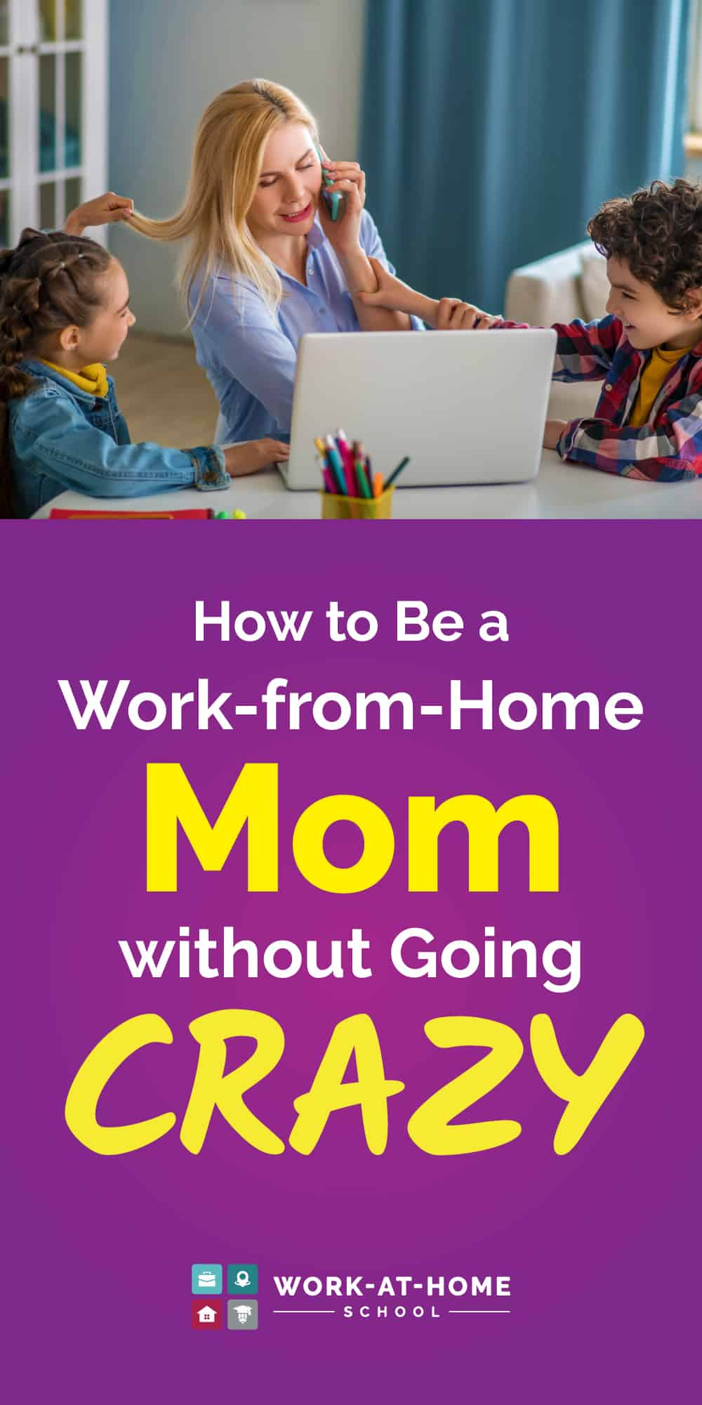 These work-from-home moms share their best tips for getting work done.